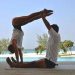 Partner yoga, jedi box exercise