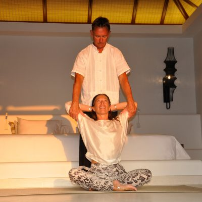 Thai Massage, shoulder opening